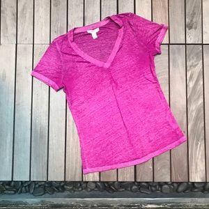 Forever 21 | Fuchsia Shirt Sleeve B Neck Cotton T
